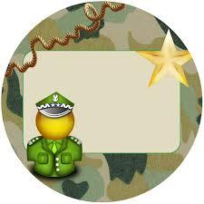 Single Invitation Cards Digital Birthday Boy Kit Army Camouflage Digital Single