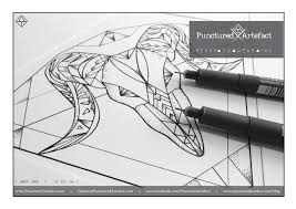 punctured artefact flash tattoo design custom symbolic ink zodiac