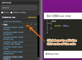 style your page with css pinegrow web editor