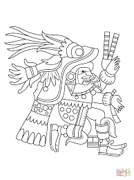 chantico aztec goddess of fires coloring page free printable