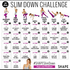 the 30 day shape slim down weight loss challenge shape magazine