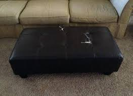 How To Reupholster A Leather Ottoman How To Reupholster An Ottoman Ottoman Recovering Reupholster Cube