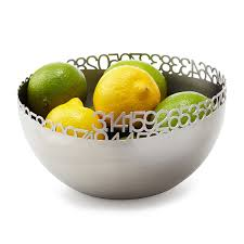 pi basket stainless steel bowl decorative bowl fruit bowl