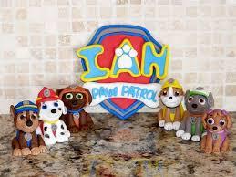 paw patrol inspired nameplate cake topper artcreationsbylk