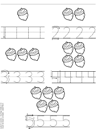 acorn numbers autumn pinterest math numbers and
