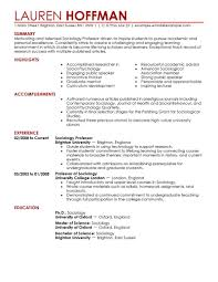 Psychology Resume Templates Academic Resume Examples Resume Example And Free Resume Maker