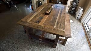 barn door dining table solid oak reclaimed barn wood dining room table