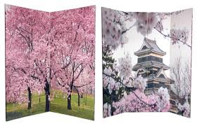 Asian Room Dividers by 6 Ft Tall Double Sided Cherry Blossoms Room Divider Asian