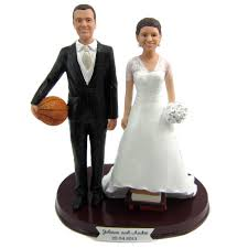 wedding toppers and groom personalized basketball and groom wedding cake toppers
