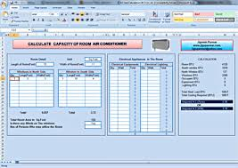 Hvac Load Calculation Spreadsheet by Calculate Size Of Air Conditioning For Room