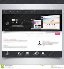 modern web design website design template with ui elements kit flat design concept