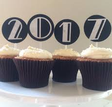 New Year S Eve Cupcake Decorations Ideas by 2017 Graduation Cake Cupcake Toppers Centerpiece Set Art Deco