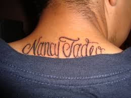 neck name tattoo ideas