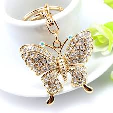 woman necklace holder images 1pc beautiful rhinestone butterfly jewelry keychain women keys jpg