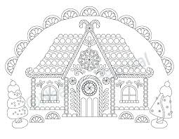 printable gingerbread house colouring page gingerbread house color page customized coloring pages gingerbread
