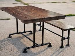 Best  Pipe Table Ideas On Pinterest Industrial Outdoor Dining - Kitchen table legs