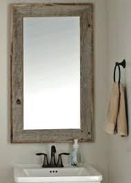 Custom Framed Bathroom Mirrors Barn Wood Mirror Rustic Bathroom Mirrors Barn Wood Mirror Custom