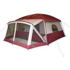 ozark trail 12 person cabin tent with screen porch walmart com