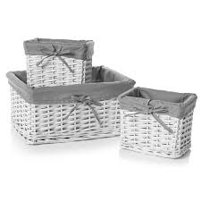 wilko set of 3 baskests white interiors pinterest room