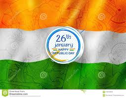Th Flag Tricolor Banner With Indian Flag For 26th January Happy Republic