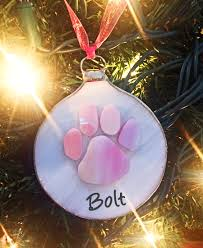 handmade pink paw ornament limited edition the national canine
