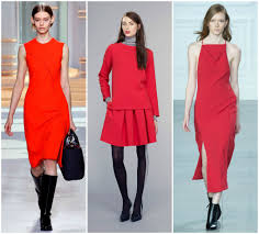 red fall winter fashion trends
