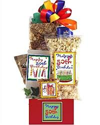Birthday Gift Baskets Amazon Com 50th Birthday Gift Basket Party Gourmet Snacks And