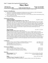 Marketing Professional Resume Cover Letter Exercise Science Resume Resume For Exercise Science