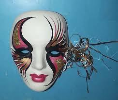 mardi gras ceramic masks porcelain masks wall decor mask ceramic decorative wall