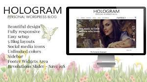 hologram wordpress personal blog theme themes u0026 templates
