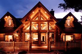 Large Log Cabin Floor Plans Manufactured Log Homes Yellowstone Log Homes