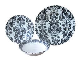 the plate co floral black u0026 white premium dinner set