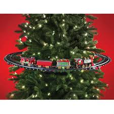 train on christmas tree rainforest islands ferry