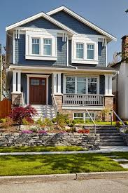 exterior paint colors blue painting exterior brick before and
