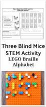Are Mice Blind Lego Braille Alphabet Three Blind Mice Stem Activity