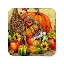 thanksgiving arrangement fruit basket sticker zazzle