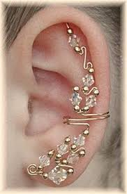 ear wraps delicate leaf ear cuff ear wrap in sterling or gold by earcharms