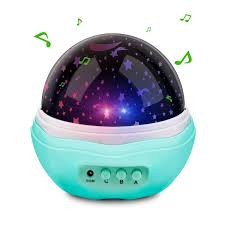 baby night light projector with music music multicolor moon star projector night light rotating starry led