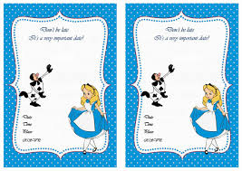 alice in wonderland party invitations printable printable