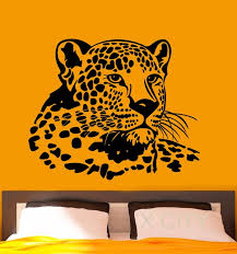 Wall Stickers For Bedrooms Interior Design Aliexpress Com Buy Leopard Wall Decal Vinyl Stickers Wild