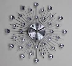 silver wall clocks modern home design ideas