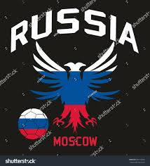 Football Flag Printing Russia Flag Color Graphic Design Vector Stock Vector 567710926