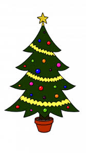 how to draw tree holidays easy step by step