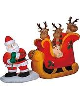 Outdoor Sleigh Decoration Christmas Deals On Gemmy Christmas Inflatable Decorations
