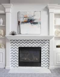 subway tile fireplace surround