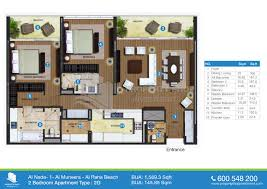 2 bedroom floor plans floor plan of al nada al raha beach