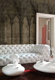 White Leather Tufted Sofa Tufted White Leather Sofa Foter