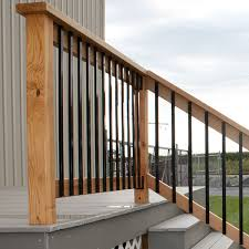 face mount aluminum balusters by solutions decksdirect