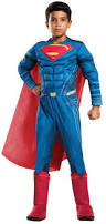 batman v superman dawn of justice deluxe superman kids costume