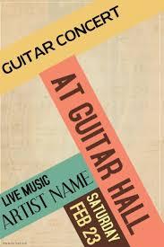 customize this guitar concert vintage retro colors live concert